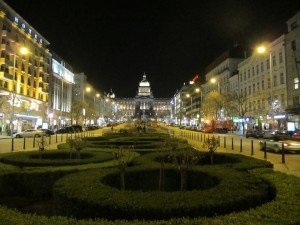 the Wenceslas Square