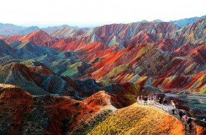 Colored rocks of Zhangye