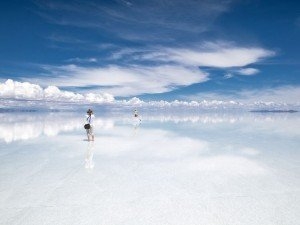Lake of Uyuni in Bolivia