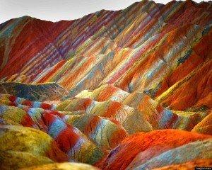 Colored rocks of Zhangye
