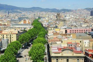 The Boulevard Las Ramblas